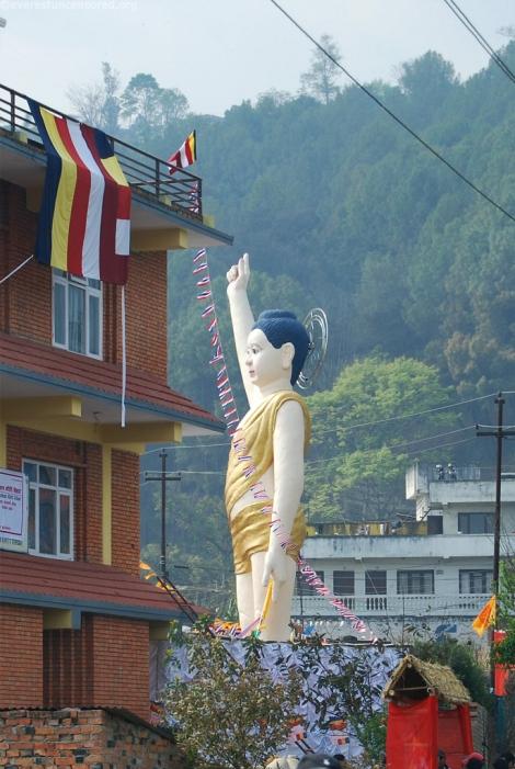 01 world largest child shakyamuni buddha statue at Chobar about 38ft