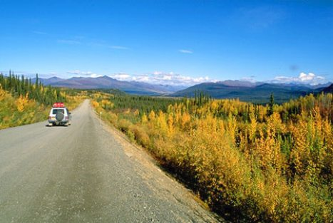 Traveler on Dempster Highway